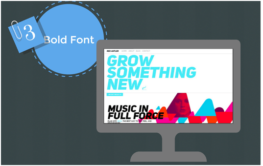Big And Bold Fonts Design Trends