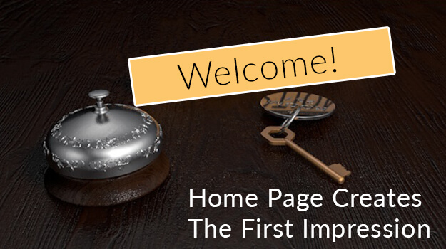 Home page creates the first impression 2