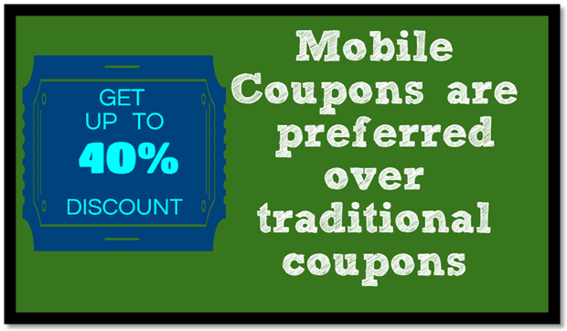 Mobile Coupons Over Traditional Coupons