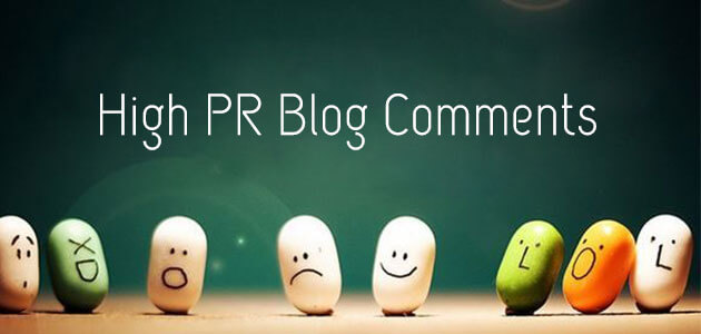 High PR Blog Comments - Promote Your Business Website