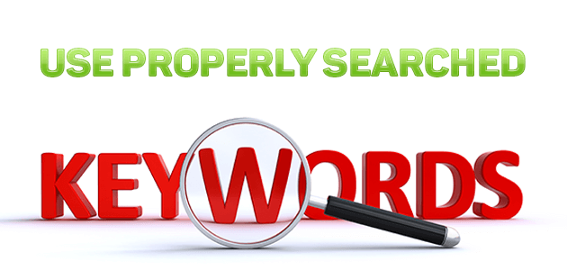 use-properly-searched-keywords